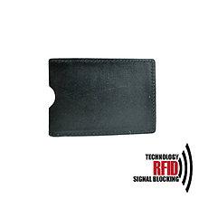 Peňaženky - RFID ochranné púzdro na karty, čierne - 10436949_