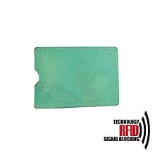 Peňaženky - RFID ochranné púzdro na karty, tyrkysové - 10436973_