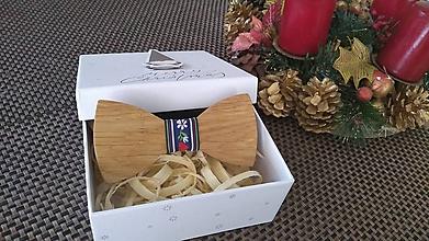 Iné doplnky - Pánsky drevený fok motýlik - 10437959_