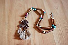Náhrdelníky - Bohémsky náhrdelník so strapcami - 10435000_