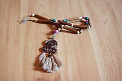 Náhrdelníky - Bohémsky náhrdelník so strapcami - 10435001_