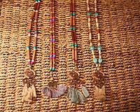 Náhrdelníky - Bohémsky náhrdelník so strapcami - 10435007_