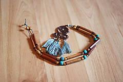 Náhrdelníky - Bohémsky náhrdelník so strapcami - 10435034_
