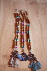 Náhrdelníky - Bohémsky náhrdelník so strapcami - 10435044_