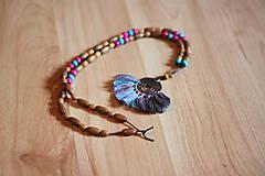 Náhrdelníky - Bohémsky náhrdelník so strapcami - 10435061_