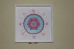 Nádoby - Servírovací ručne maľovaný podnos MANDALA. - 10435391_