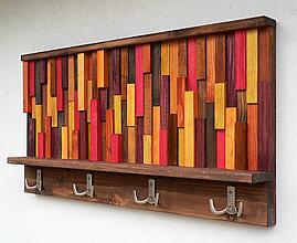 Nábytok - Závesný drevený vešiak VERTI - 10434727_