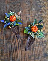 Ozdoby do vlasov - Sponky little pumpkins - 10435744_