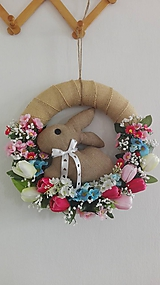 Dekorácie - Veniec so šitým zajačikom - 10436128_