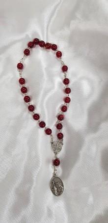 Nezaradené - Ručne vyrobený ruženec k sv. Rite - 10435404_