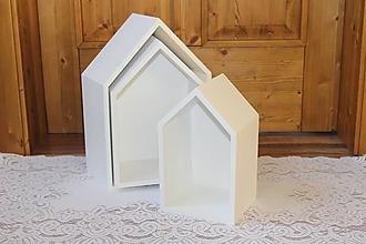 Nábytok - Domčekopoličky v bielom :) - 10436887_