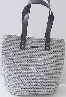 Kabelky - Háčkovaná taška - 10434840_