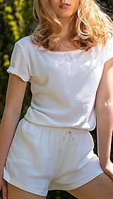 Pyžamy a župany - Dámske pyžamo z organickej bavlny (XS Natural) - 10437479_