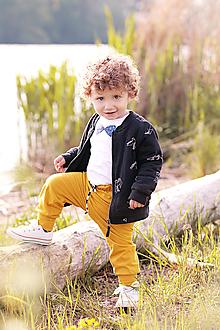Detské oblečenie - Detské tepláky horčicové - 10435059_