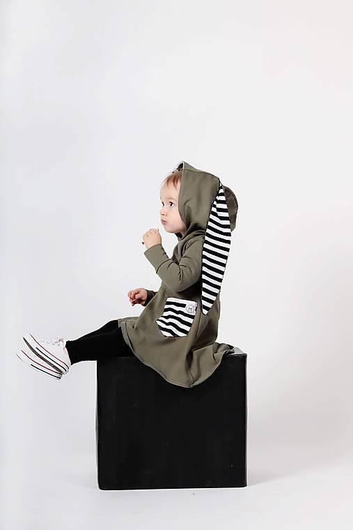 Detské oblečenie - Rastúce zajkošaty  (Khaki) - 10436343_