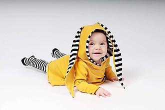 Detské oblečenie - Rastúce zajkošaty  (Horčicová) - 10436325_