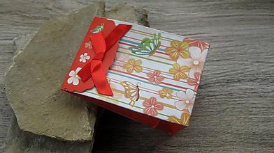 Obalový materiál - Darčeková taštička, 10,5 x 7,5 cm, 1 ks (kvety, motýle) - 10435902_