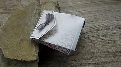 Obalový materiál - Darčeková taštička, 3.7 x 6.7 x 8.3cm, 1 ks (strieborná) - 10436029_