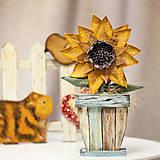 Dekorácie - Textilná slnečnica - 10435708_