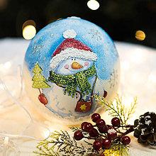 """Dekorácie - Vianočná gulička """"Snehuliak"""" - 10435826_"""
