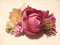 Ozdoby do vlasov - Kvetinová spona do vlasov - 10437474_