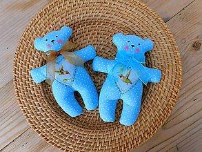 Darčeky pre svadobčanov - Bavlnené svadobné medvedíky, 17 cm - 10434791_