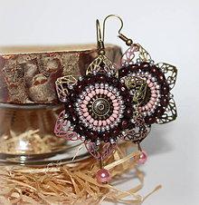 Náušnice - Vintage Flower - 10437568_