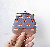 Peňaženky - Peňaženka mini Malé líštičky - 10436610_