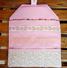 Detské doplnky - Sponkovník jednoduchý pastelový - 10435467_