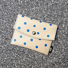Peňaženky - Purse dots blue - 10435519_