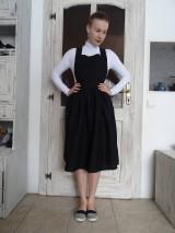 Šaty - Ľanové šaty na traky - 10436409_