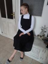 Šaty - Ľanové šaty na traky - 10436410_