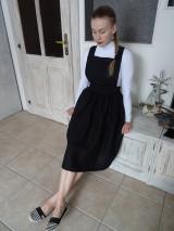 Šaty - Ľanové šaty na traky - 10436419_