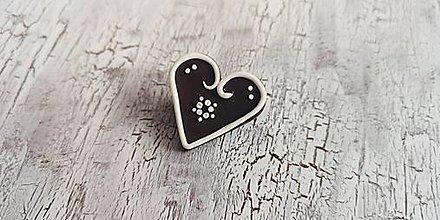 Odznaky/Brošne - medovníkové srdce - brošňa menšia - 10435719_