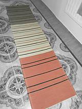 Úžitkový textil - oranžovo smotanovo šedý - 10440596_