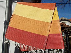 Úžitkový textil - červeno žlto oranžový koberec - 10440550_