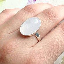 Prstene - Silver Rose Quartz Ring AG925 / Výrazný strieborný prsteň s ruženínom /1516 - 10441781_