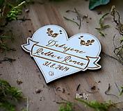 Darčeky pre svadobčanov - Magnetky pre svadobných hostí Vlajka - 10440942_