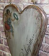 Dekorácie - Veľké srdce - ĎAKUJEM, buk - 10439991_