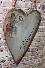 Dekorácie - Veľké srdce - ĎAKUJEM, buk - 10439999_
