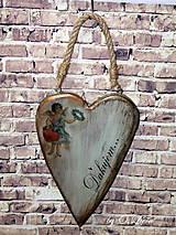 Dekorácie - Veľké srdce - ĎAKUJEM, buk - 10440000_