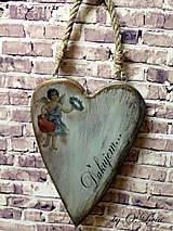 Dekorácie - Veľké srdce - ĎAKUJEM, buk - 10440002_
