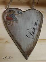 Dekorácie - Veľké srdce - ĎAKUJEM, buk - 10440003_