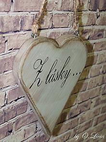 Dekorácie - Shabby srdce - Z lásky..., smrek - 10440068_