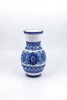 Dekorácie - Sedliacka váza (Modrý dekor) - 10440192_