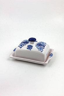 Nádoby - Maselnička (modrý dekor) - 10440338_