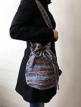 Batohy - Batoh na plece modro-hnedý + drobnosti modrohnedý - 10441821_