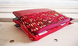 Taštičky - Kozmetické taštičky malé - srdcia,Klimt - 10439569_