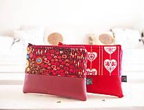 Taštičky - Kozmetické taštičky malé - srdcia,Klimt - 10439572_