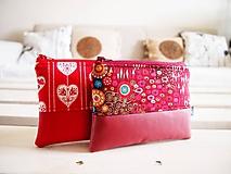 Taštičky - Kozmetické taštičky malé - srdcia,Klimt - 10439573_